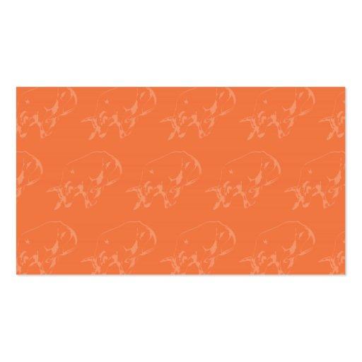 Raging Bull Oranges Business Card Templates