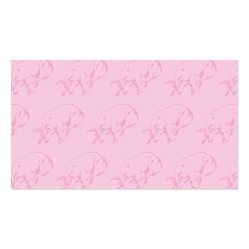 Raging Bull Pinks Business Cards