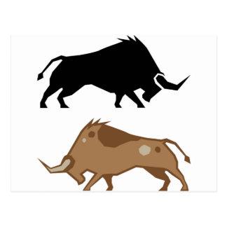 Raging Bull Postcard