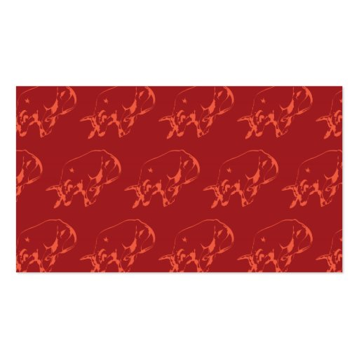 Raging Bull Reds Business Card