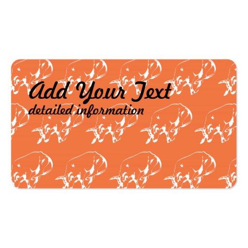 Raging Bull White Orange Business Card