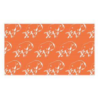 Raging Bull White Orange Pack Of Standard Business Cards
