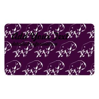 Raging Bull White Purple Business Card Templates