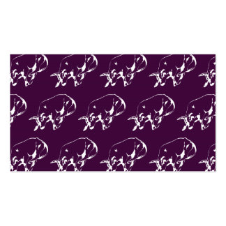 Raging Bull White Purple Pack Of Standard Business Cards