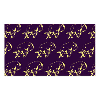 Raging Bull Yellow Purple Pack Of Standard Business Cards