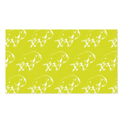 Raging Bull Yellow White Business Card Templates
