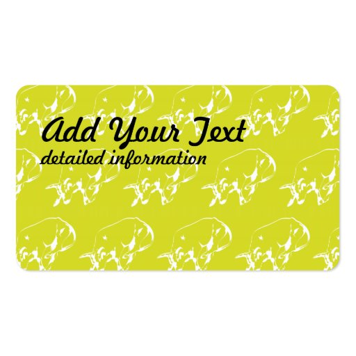 Raging Bull Yellow White Business Cards