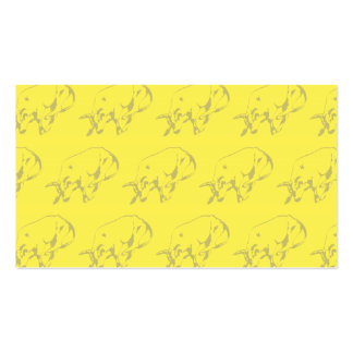 Raging Bull Yellows Pack Of Standard Business Cards