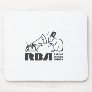 RAGING BUNNY ABIDES MOUSE PAD