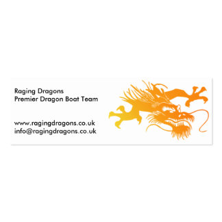 Raging Dragons - Dragonboat Team Business Cards