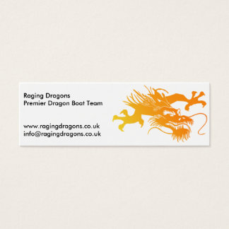 Raging Dragons - Dragonboat Team Mini Business Card