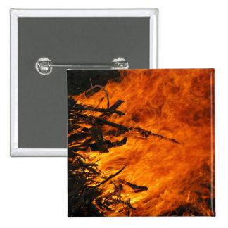 Raging Fire 15 Cm Square Badge