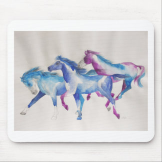Raging Mustangs in Pastel Mouse Pad