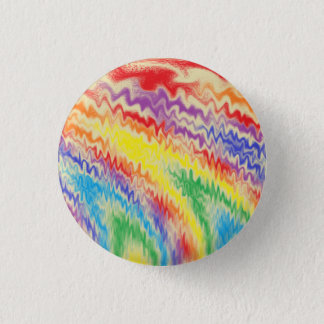 Raging Rainbow Fire Lines 3 Cm Round Badge