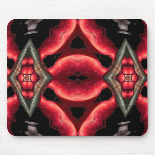 Raging Red Mouse Pad