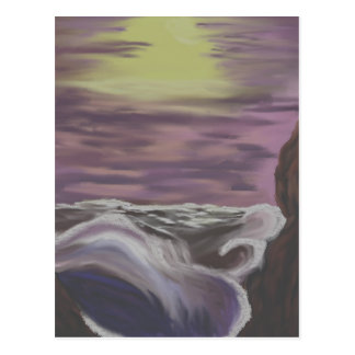 raging sea 2 postcard