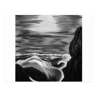 raging sea postcard