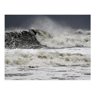 Raging Seas Of Hurricane Sandy Postcard