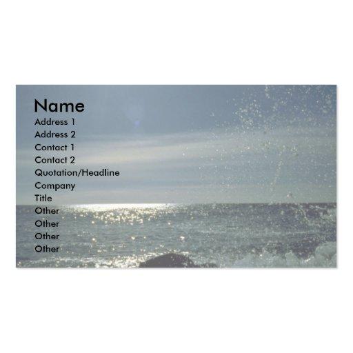 Raging surf, Atlantic Coast Business Card Templates