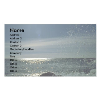 Raging surf Atlantic Coast Business Card Templates