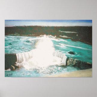 Raging Waterfall Poster