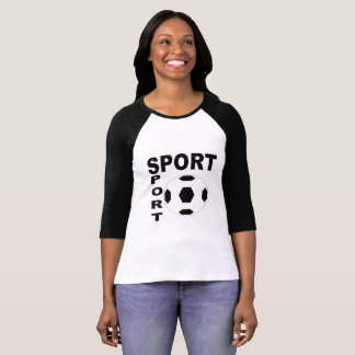 RAGLAN BLEATED+CANVAS SPORT T-Shirt