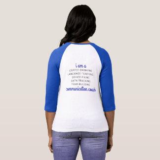 Raglan Tee - AAC SLP - Communication Coach - BLUE