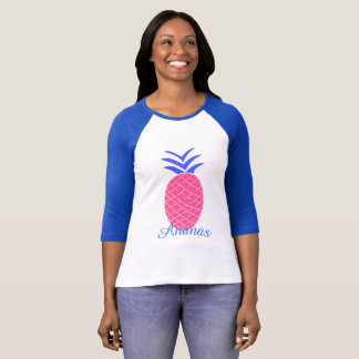 Raglan with handles 3/4 Pineapples T-Shirt