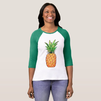 Raglan with handles 3/4 woman, Pineapple T-Shirt