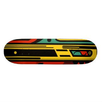 RAGNAROK 2 COLORFUL NORTHWEST by Slipperywindow 19.7 Cm Skateboard Deck
