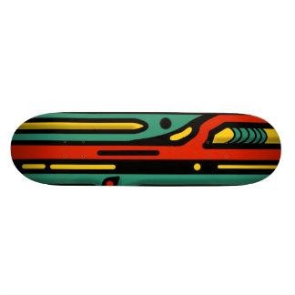 RAGNAROK COLORFUL NORTHWEST by Slipperywindow Custom Skate Board