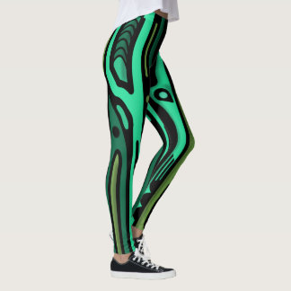 RAGNORAK NORTHWEST GREEN by Slipperywindow Leggings