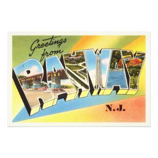 Rahway New Jersey NJ Old Vintage Travel Postcard- Photo Print