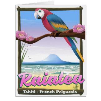 Raiatea Society Islands,Tahiti,French Polynesia. Card