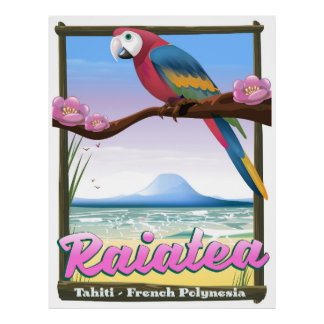 Raiatea Society Islands,Tahiti,French Polynesia. Poster
