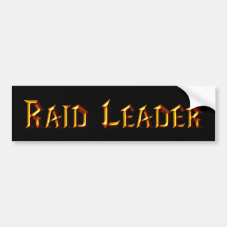 Raid Leader Bumper Sticker