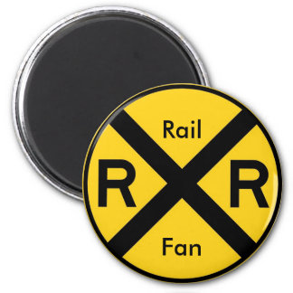 Rail Fan 6 Cm Round Magnet