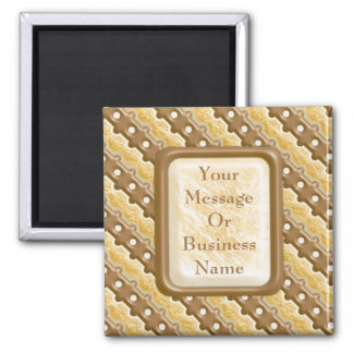 Rail Fence - Chocolate Marshmallow Square Magnet