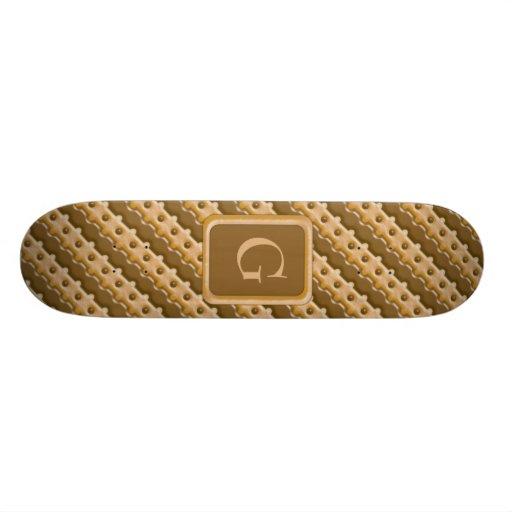 Rail Fence - Chocolate Peanut Butter Custom Skateboard