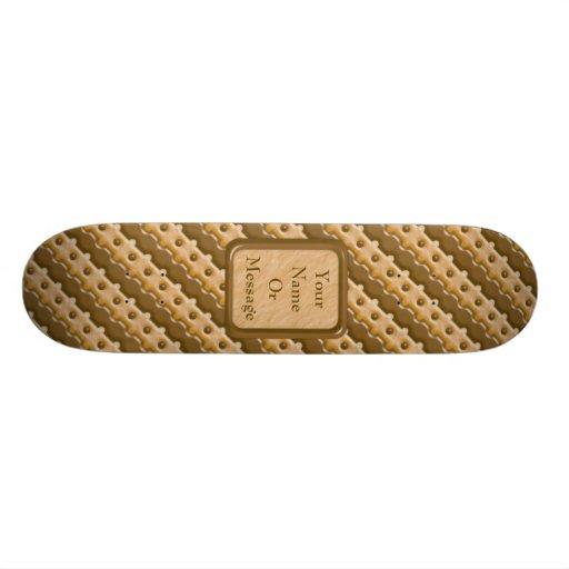 Rail Fence - Chocolate Peanut Butter Skate Board