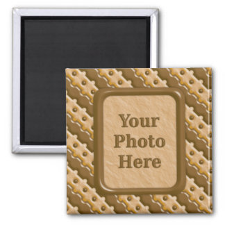 Rail Fence - Chocolate Peanut Butter Square Magnet