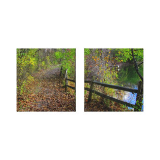 Rail-Fence in Fall Gallery Wrap Canvas
