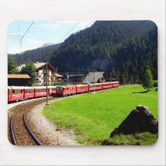 Rail journey to Arosa, Switzerland Mouse Pad