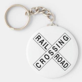 RAIL ROAD CROSSING KEY RING