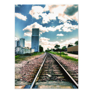 Rail Road Tracks Photo Print