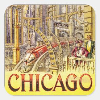 Rail Train of the Future Square Sticker