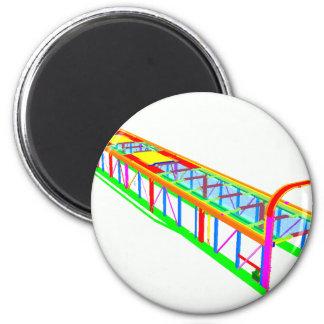 Rail vehicle FEA 6 Cm Round Magnet