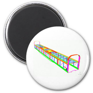 Rail vehicle FEA Refrigerator Magnet