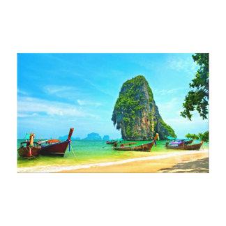 Railay Beach at Krabi, Thailand Canvas Print