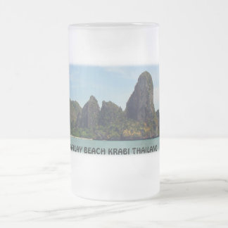 Railay Beach Krabi Thailand Frosted Mug